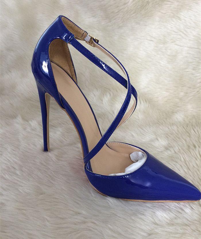 Sıcak Satış-Signer Yeni Kırmızı alt Rugan Seksi Moda 8 cm / 10 cm / 12cm Yüksek Topuklar Bayanlar ayakkabı Kadın Ayakkabı pompaları