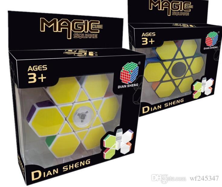 doigt gyroscopique du bout des doigts cube magique six enfants axe jouets éducatifs décompression jouets pour adultes puzzle lisse gyroscop de bureau illimité