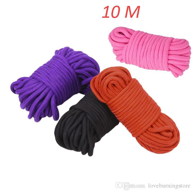 10 Meters Long Restraint Bondage Ropes Thick Strong Cotton Rope Fetish Sex Harness Flirting SM Adult Game Sex Toys for Couples