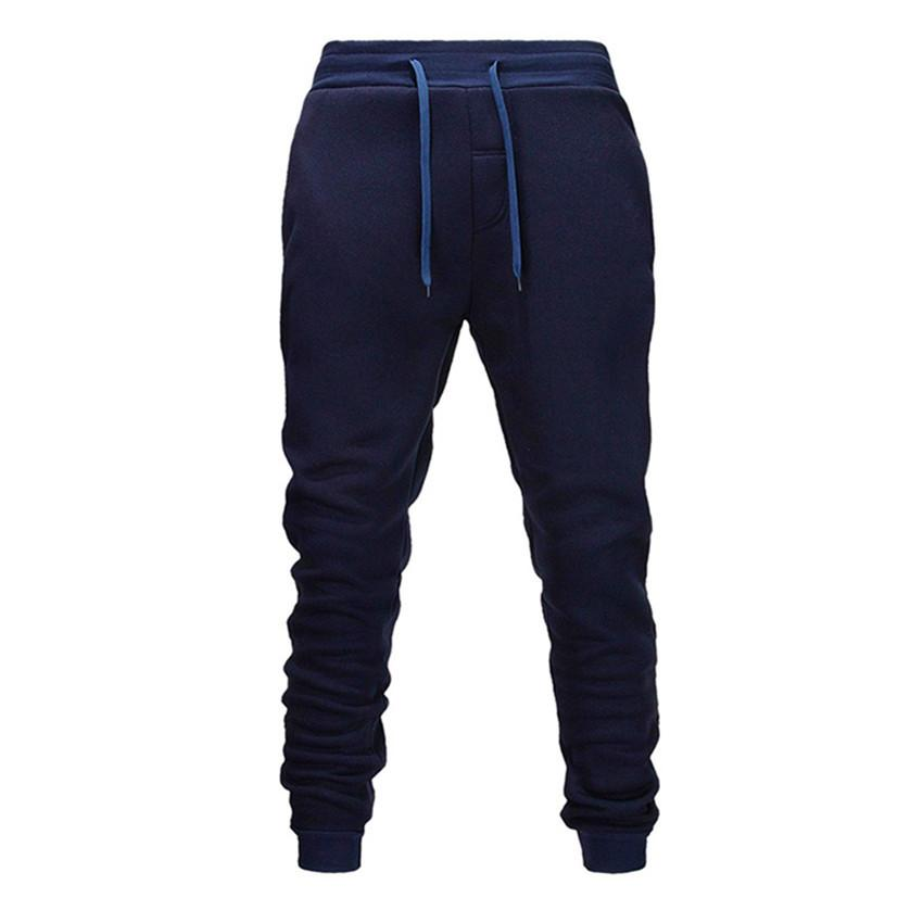 Shun princes Navy blue Men Pants Fashions Joggers Pants Male Casual Sweatpants Bodybuilding Fitness Track Sweat Trouser