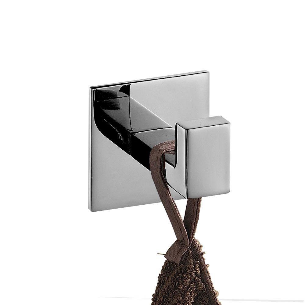 No Screw Need Modern 304 Stainless Steel Self Adhesive Bathroom Square Towel Hook Coat Hat Door Hook Hanger Bathroom Accessories