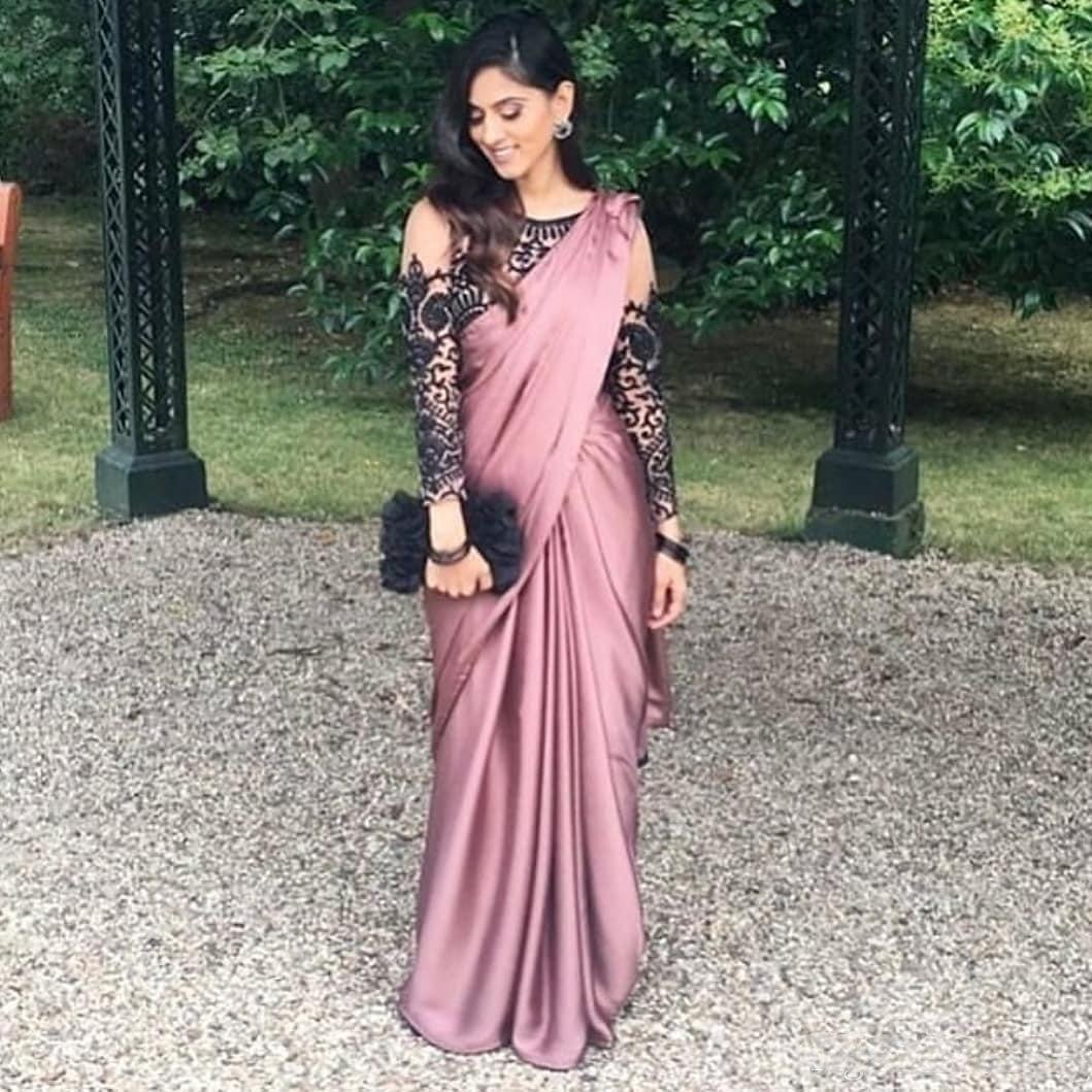großhandel 2019 mode spitze indien afrikanische abendkleider mit langen  Ärmeln perlen mantel abendkleider günstige formale party brautjungfer  pageant