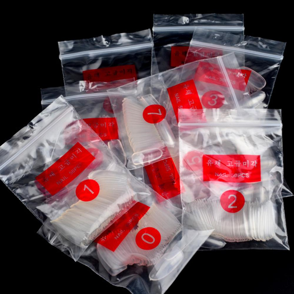 500 PCS False Nail Dual Nail Art System Form Mold White Clear Acrylic UV Gel False Tips Tool For Decor Practice