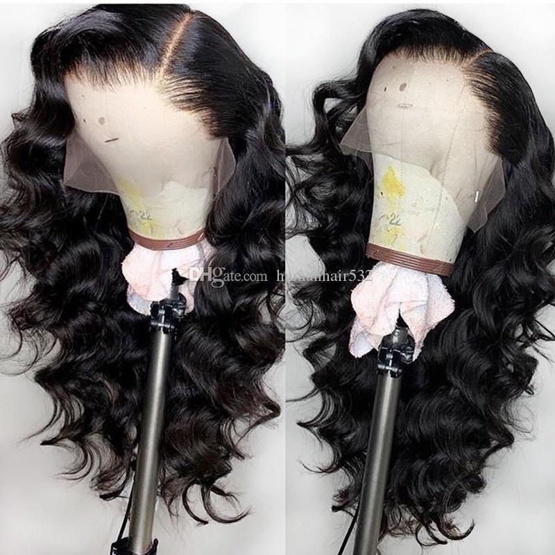 İpek Tabanı Tam Dantel İnsan Saç Peruk Gevşek Dalga Top İpek Tam Dantel Peruk Brezilyalı Saç Dantel Peruk ile Bebek Saç ağartılmış Knots