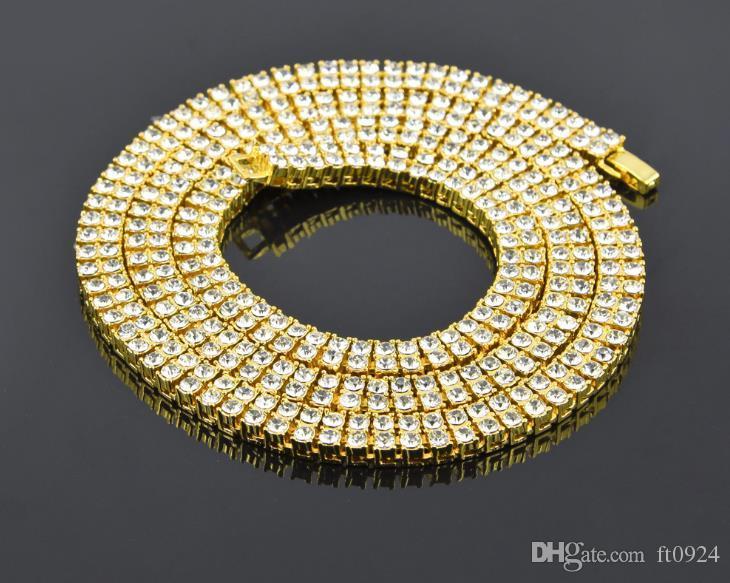 Новейшие европейские и американские модные привлекательные мужские сплавы с инкрустацией бриллиантами из двух рядов бутика индивидуальности Ожерелье хип-хоп ювелирных изделий