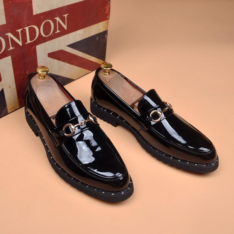 Marka Tasarımcı Erkek elbise ayakkabı İngiliz sivri gelinlik ayakkabı tasarımcısı parti ayakkabı V58 iş ayakkabıları düğün siyah ayakkabı bağlamak yok
