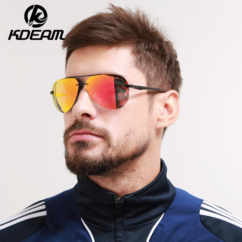 Kdeam Sunglasses Men Polarized Eyewear Hd Rimless Sun Glasses Reflective Coating Women Outdoor Sunglass Brand 5 Colors Kd143 C19022501