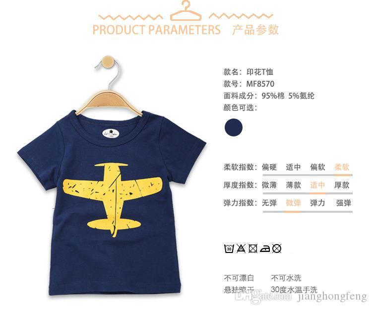 Горячие продажи Детские футболки Hitz хлопок с коротким рукавом мальчики и девочки футболки мода шею пуловеры