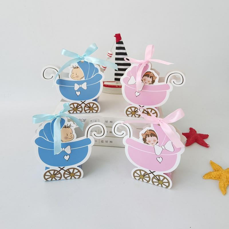 Детская коляска формы конфеты коробка детские душевые вкладки коробки подарки конфеты ящики одобрения держатели с лентой свадьба
