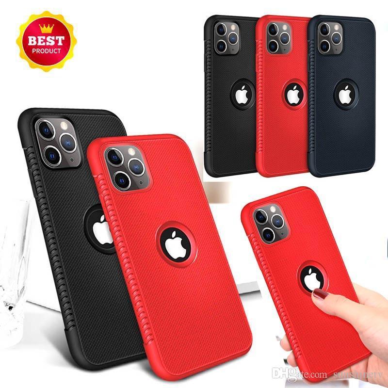 para Iphone 11 PRO XR XS max x 6S 7 8 mais TPU borracha macia caso de telefone celular de silicone cover fino para samsung S8 S9 S10 além nota 8 9 luxo