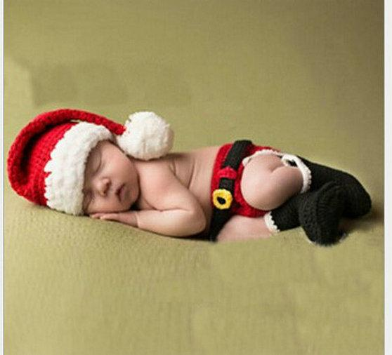 الذيل طفل التصوير الدعائم الحياكة طويل عيد الميلاد قبعة بابا نويل الوليد الكروشيه القبعات طفل رضيع صور الدعائم