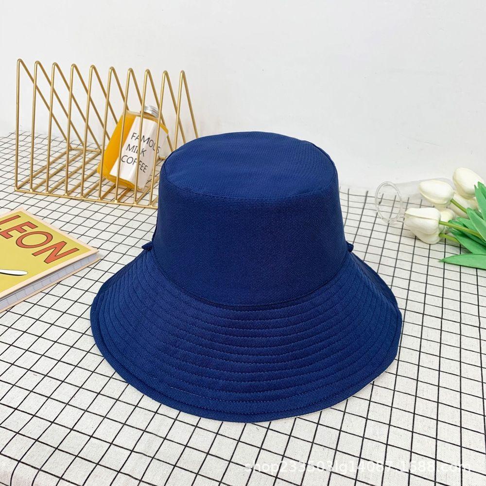 estate del Pescatore Pescatore protezione solare delle donne del tutto-fiammifero su due lati grandi cornicioni turismo crema solare cappello bacino delle donne di colore solido