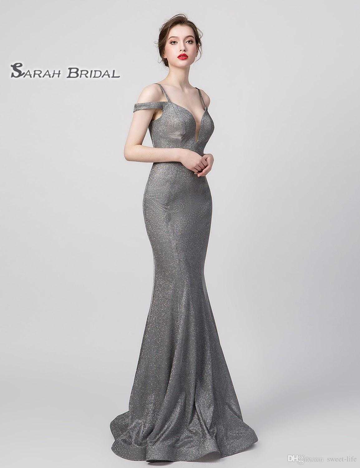 2020 100 Real Pictures Grey Sexy Elegant Mermaid Prom Dress
