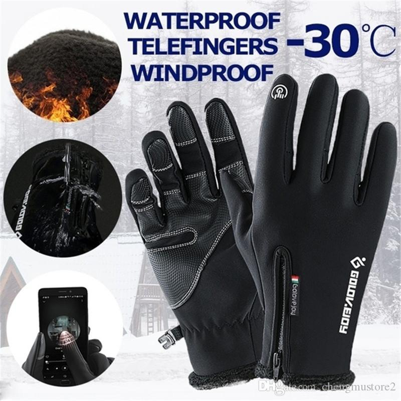Hot winter outdoor sports neutral warm, waterproof and windproof touch screen gloves cycling skiing windproof gloves