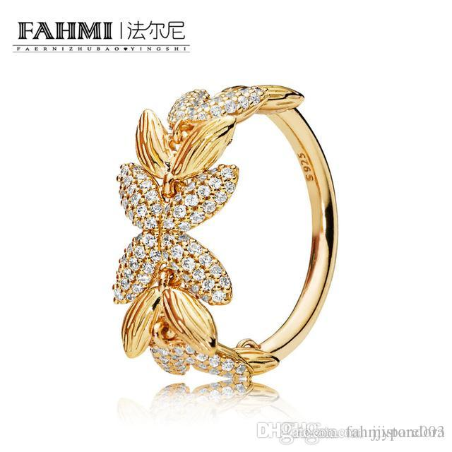 Fahmi 100% 925 Sterlingsilber New Romantic 167735CZ Glanz Kreis der Samen Ring Original-Schmuck für Frauen Souvenirs