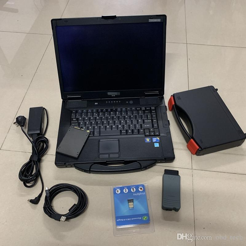 V-A-S 5054A with OKI full Chip V12.1.1 ODIS V6.2.0 480GB SSD Used CF-52 4g v-a-s 5054a Auto diagnostic Tool
