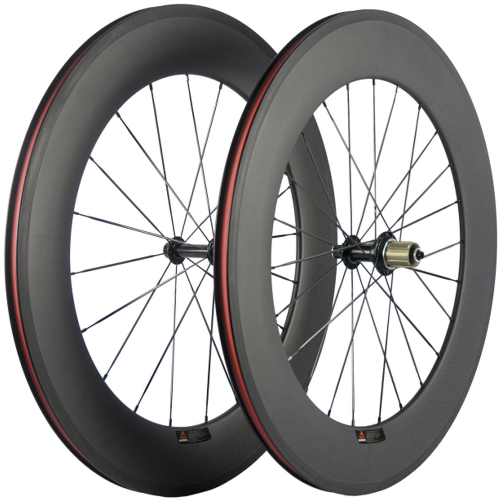 88 millimetri di profondità della fibra Wheelset graffatrice della bici della strada 23 millimetri Larghezza R13 Hub Ruote 3K opaco basalto 700C Carbon Racing Wheels