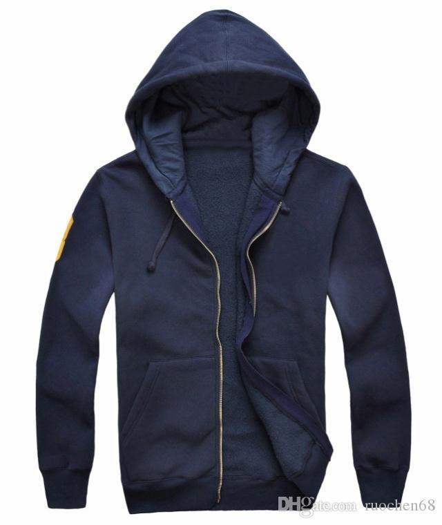 Os mais recentes hoodies mais grossos dos homens 2019 novos homens moda camisola mens marca de lã casual moletom com capuz 100% algodão grande cavalo