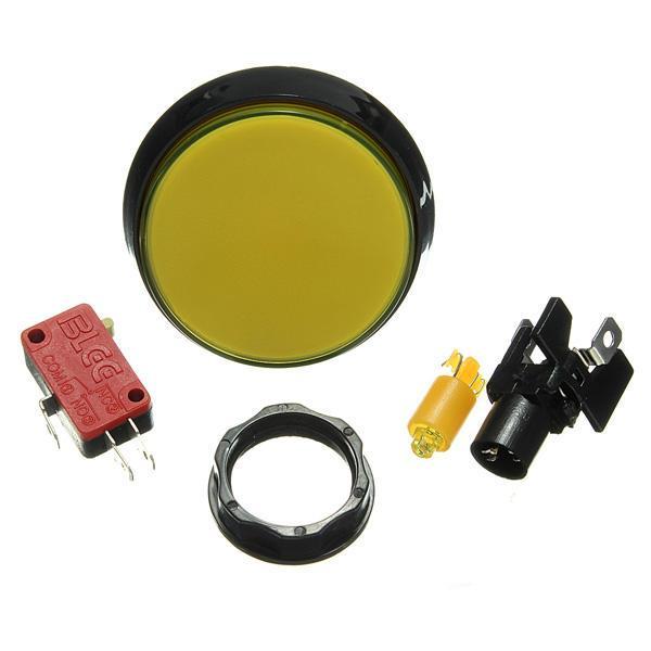 LED أصفر محفظة 5pcs ضوء 60MM ممر لعبة فيديو لاعب زر التبديل