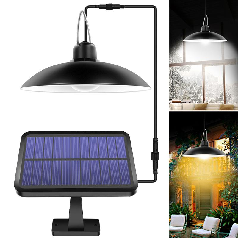 2020 New Solar Shed Lights Outdoor Indoor 16 LED Solar Pendant Light Lamp For Camping Waterproof Lighting For Garden Yard Decoration