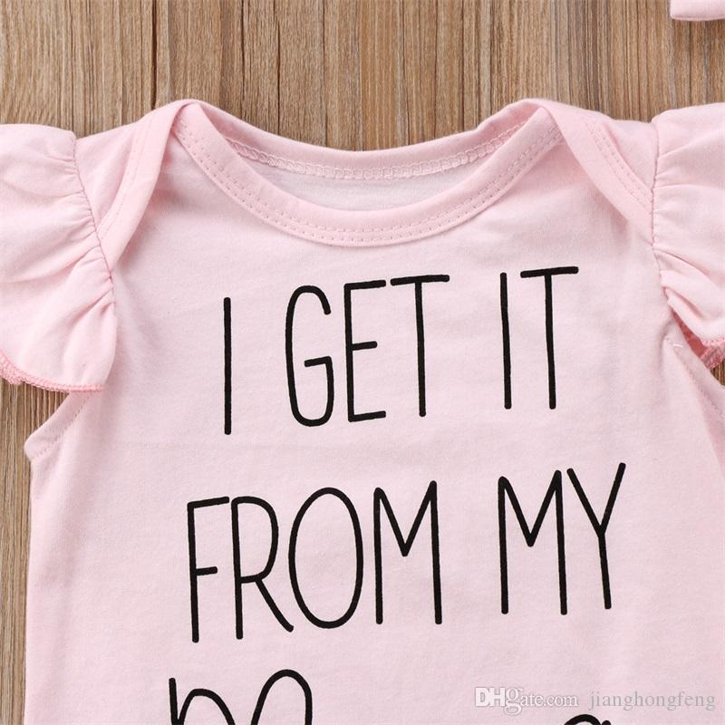 AM/_ BH/_ KF/_ BG/_ Kid Baby Girls Cute Lace Ruffle Letter Print Sleeveless Bodysuit