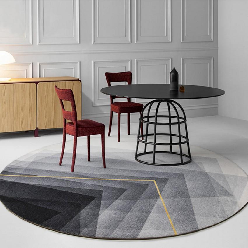 estilo nórdico INS de color gris metálico popular entre los alfombra de la sala tejida, post moderna alfombra decoración de noche. Villa alfombra