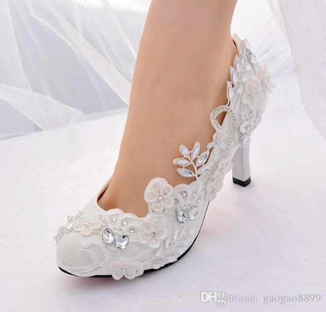 2020 Yeni Kadın Çiçek Seksi Dantel Stilettos Elbise Ayakkabı Boncuklu Bayan Stiletto Yüksek Topuklu Parti Düğün Akşam Pompaları Sivri Burun Ayakkabı Kayma