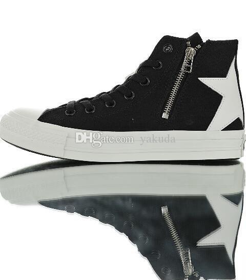 Top Chuck AllStar BS Z Canvas Высокая Высокая топ случайные спортивные вулканизированной обуви стороны молния лучшие спортивные кроссовки для мужчин женщин сапоги пробежки