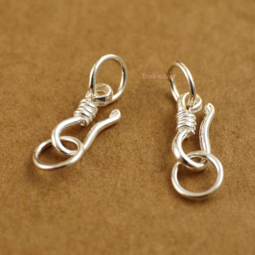 2x solide solide en argent Sterling Bijoux De Mode Bracelet Collier Fermoir Connecteur DIY Charme Bijoux A2205