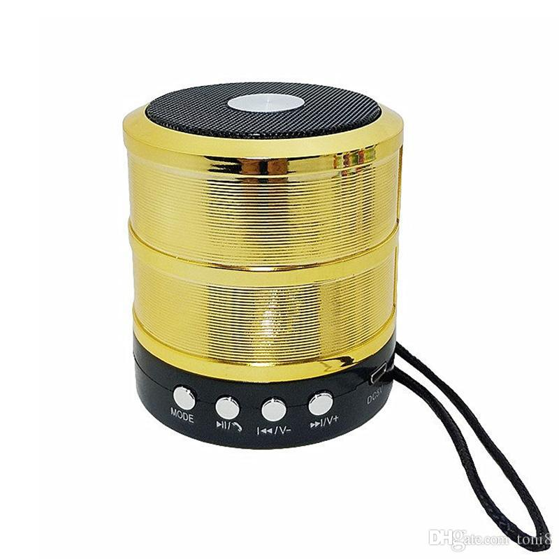 Bluetooth hoparlör Metal indüksiyon küçük çelik tabanca Taşınabilir Mini Radyo Hoparlör YENİ ws887 2020 sıcak satış