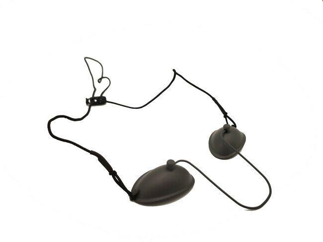 قابل للتعديل جميع الفولاذ المقاوم للصدأ Goggle واقية Eyepatch قناع العين المعدنية ل IPL ليزر لإزالة الشعر صالون تجميل