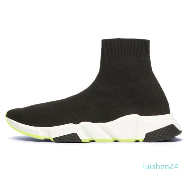 2020 formateur chaussures de sport chaussettes vitesse design de luxe des femmes des hommes occasionnels chaussures bottes tripleur formateurs de la plate-forme de baskets vintage L24