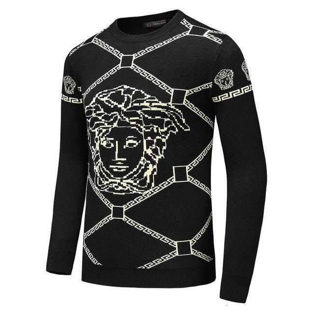 muse66 мужских свитеров теплого дизайна размера бесплатной доставки M-3XL классических писем зимой хлопок вышивка футболка 0722