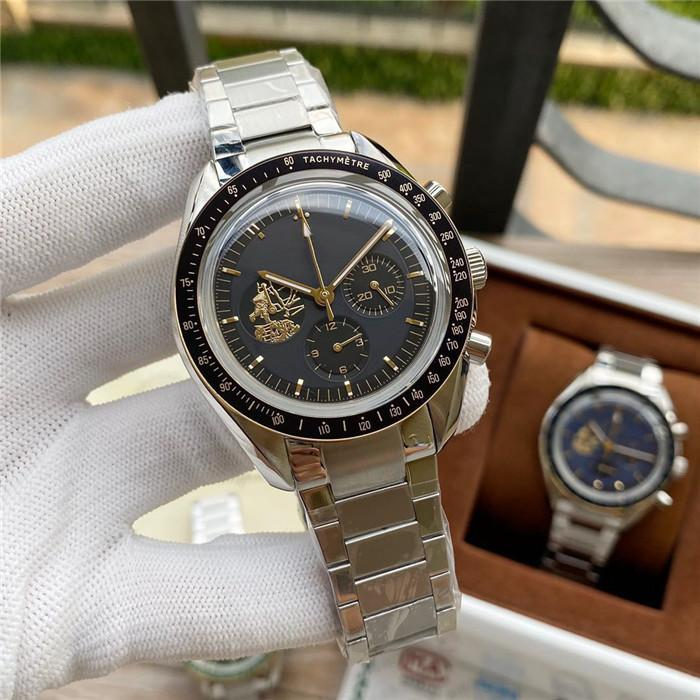 Luxury watch super timing code fine steel case 42mm in diameter men's mechanical multi-function limited designer watches