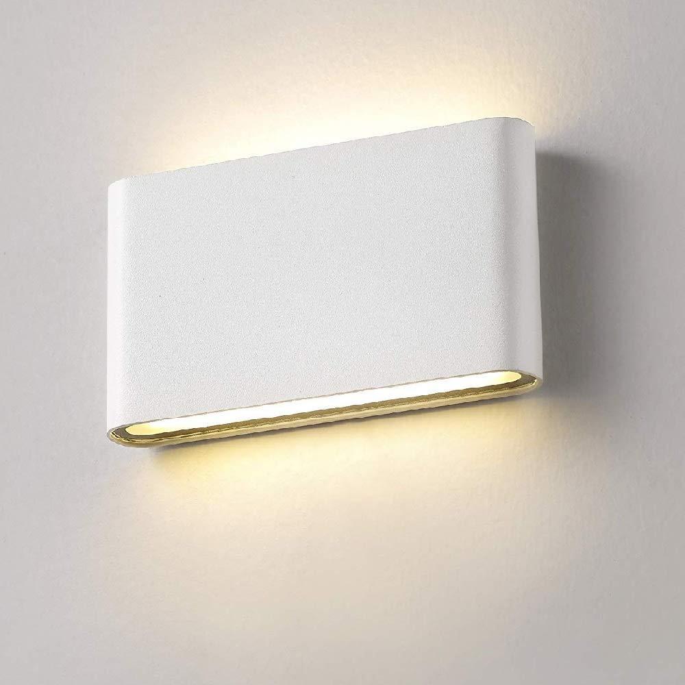 BRELONG 6W LED 옥외 벽 빛, 실내 빛, IP65 방수 알루미늄 합금 COB 벽 램프, 온난 한 백색 정원 산책에 적합