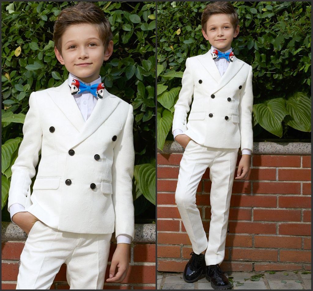 Custom Boy Fashion Handsome Suit Traje de dos piezas (chaqueta + pantalones) Boy Graduation Ceremony Pants Wedding Prom Party Tuexdos Trajes