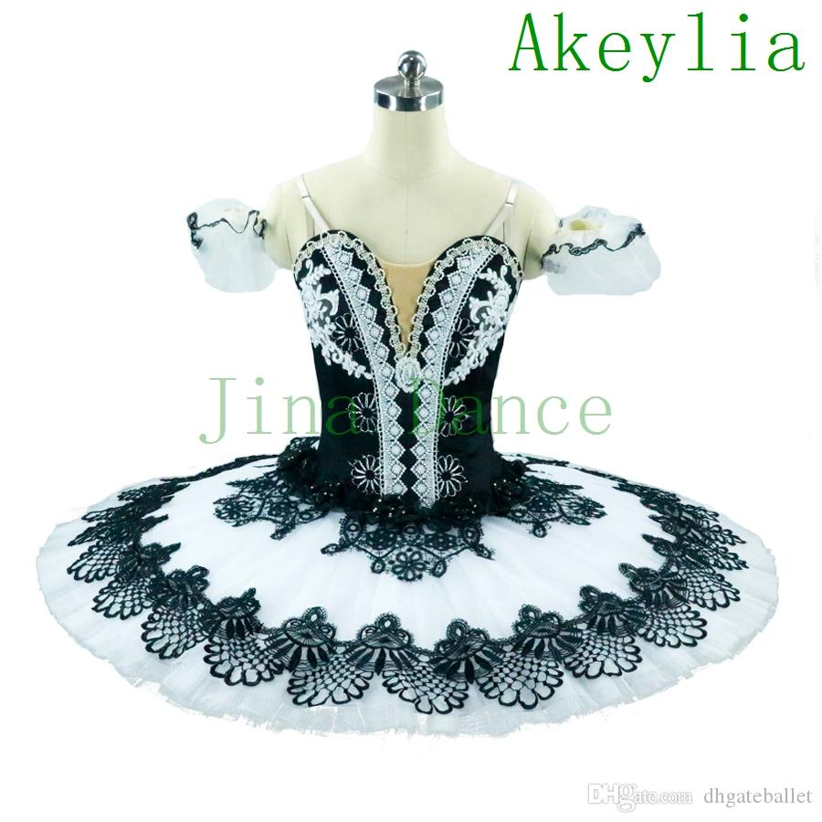 Adult Girls Professional Ballet Tutu Black White Nutcracker Ballerina Pancake Red Black Classical Ballet Stage Costume Tutu Platter for Wome