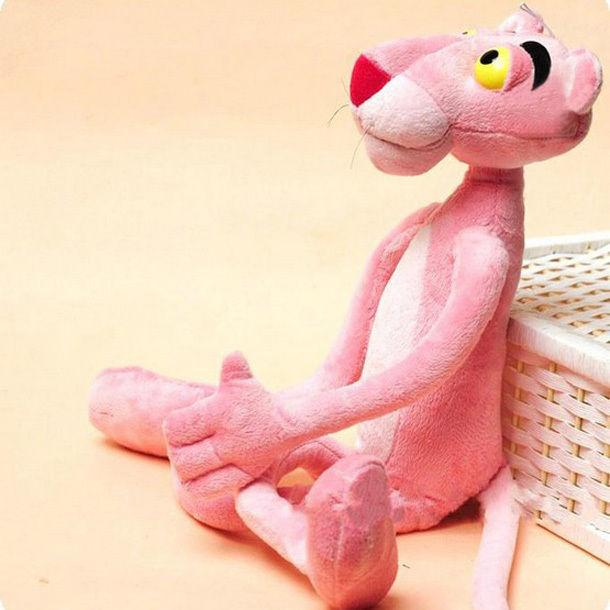2019 Pudcoco 38CM Pink Panther Soft Toy Plush Stuffed Doll Baby Kids Child Gift 100% Cotton