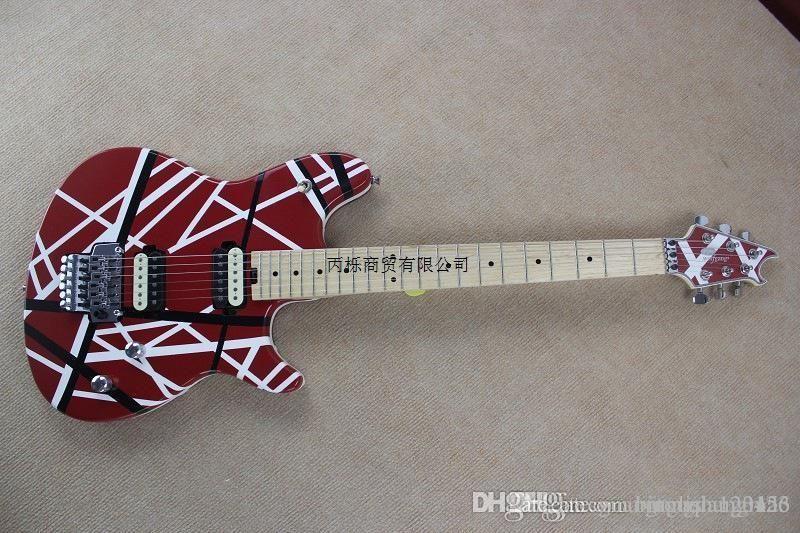 Haute qualité - Nouvelle arrivée EVH Wolfgang Custom Shop guitare électrique en ligne blanche rouge en gros Livraison gratuite