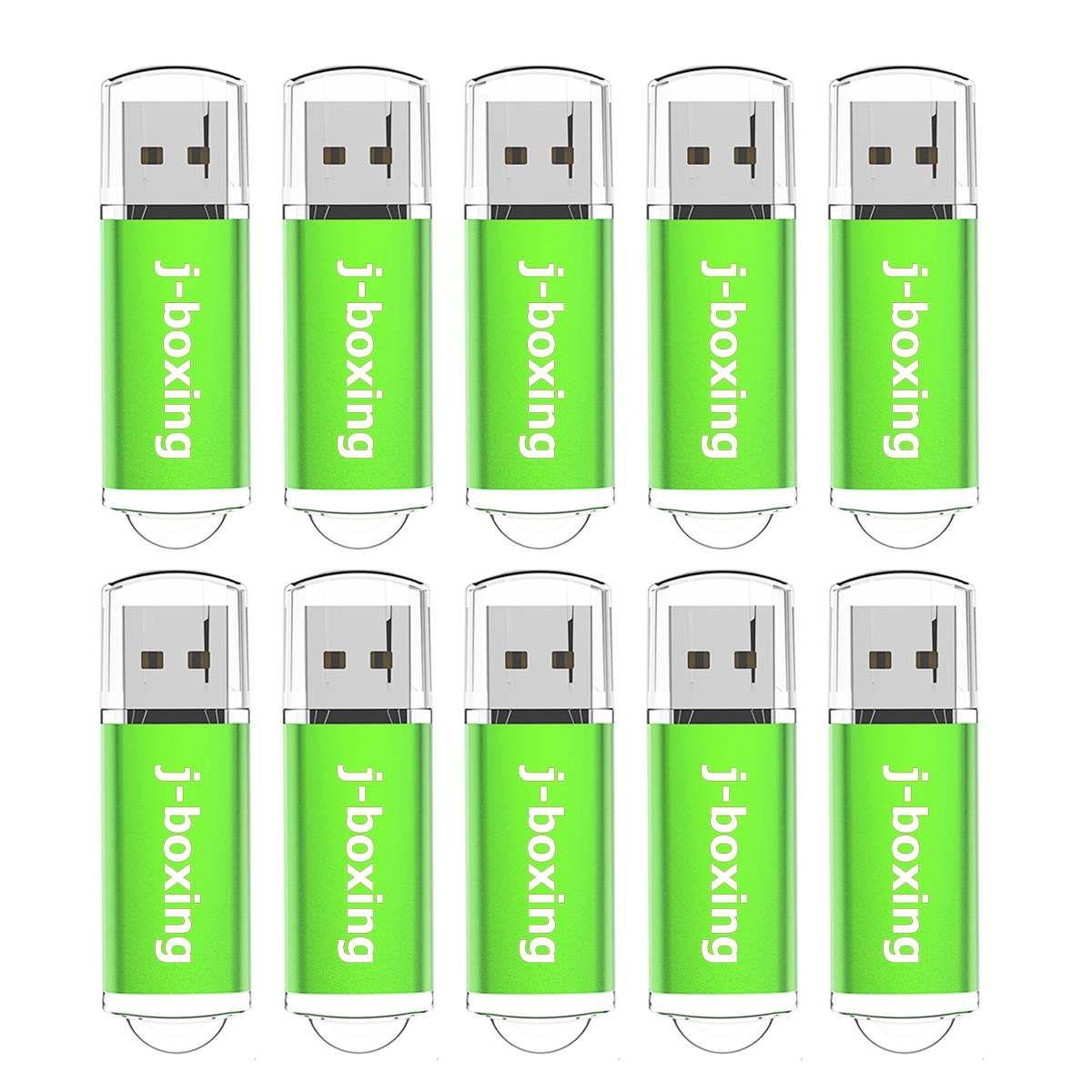Green 10PCS Rectangle USB 2.0 Flash Drives Enough Pen Drives Thumb Memory Stick Storage 64M 128M 256M 512M 1G 2G 4G 8G 16G 32G for PC Laptop