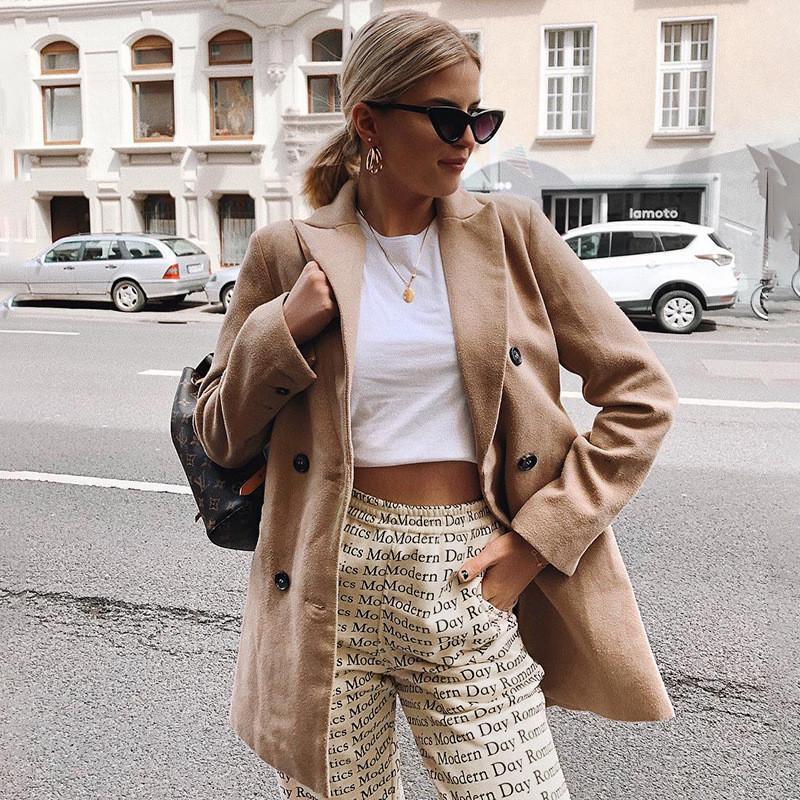 Femmes Designer Pantalon droit Lettre mode Imprimer Pantalon couleur solide Casual taille élastique Vêtements capris pour dames