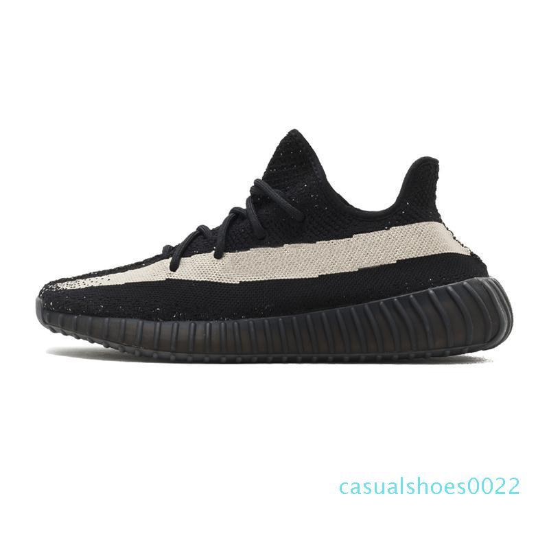 Kanye West 2019 GID Resplandor en la oscuridad de la arcilla verdadera Forma hiperespacio para hombre reflexivo de los zapatos corrientes de deporte de las mujeres D zapatillas de deporte de diseño