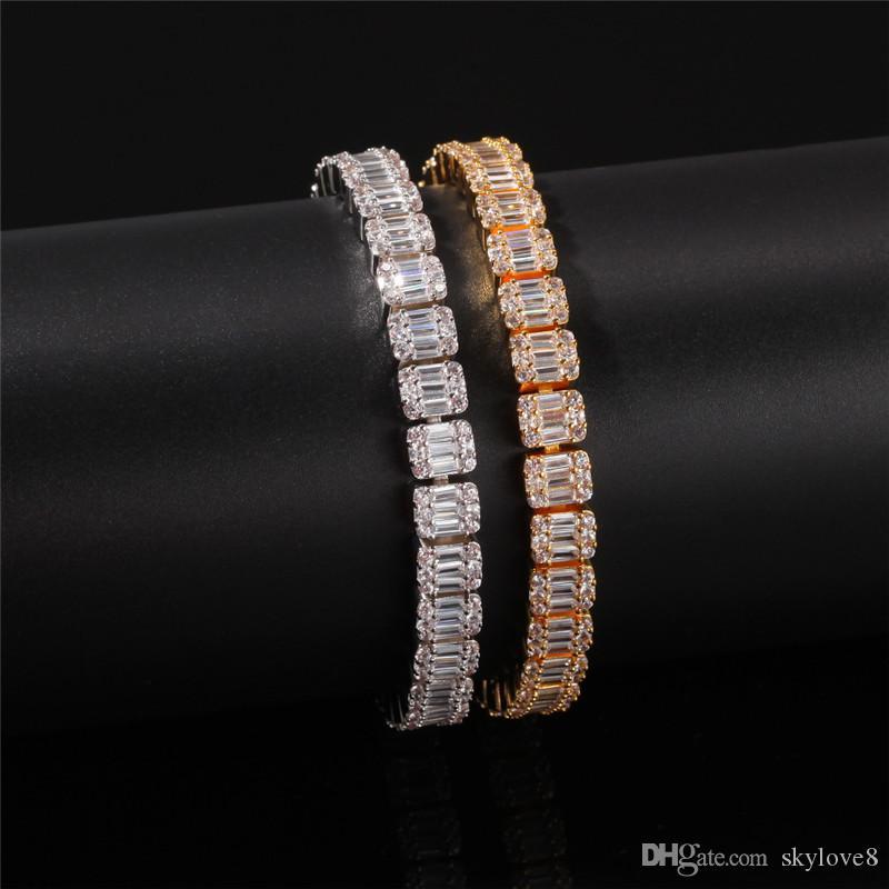 Direto da fábrica unisex pulseira de zircão de alta qualidade de cobre incrustada zircão banhado a ouro para criar pulseira de noiva de alta qualidade