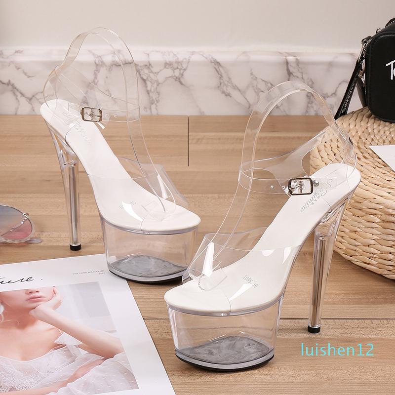 Göster Striptizci Topuklar Temizle Ayakkabı Kadın Platformları Yüksek Topuklar Sandalet Kadınlar Seksi Big Yard Balık Ağız Ayakkabı 2020 Yeni l11 Walking