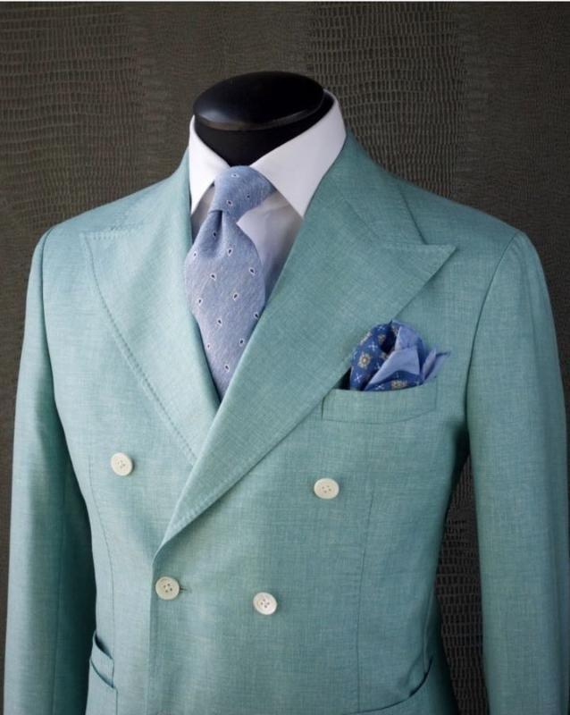 Alta qualidade Jacket Pants Two Pieces Homens Ternos Abotoamento Formal Wear noivo Negócios Trabalho Blazer (jaqueta + calça + TIE)
