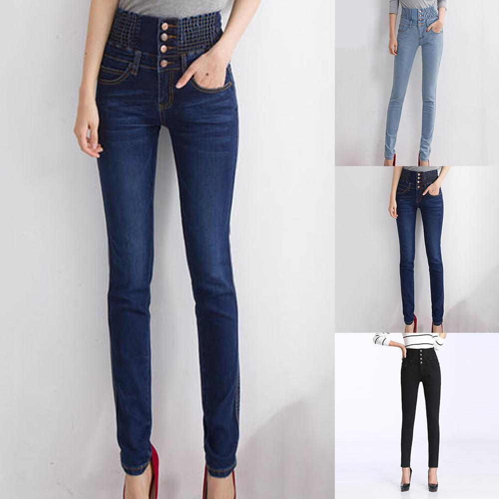 2021 High Waist Skinny Jeans Pencil Pants Womens Winter Thick Fleece Lined Elastic Waist Trousers Plus Size Female Pantalones Mujer From Tiguan 24 73 Dhgate Com