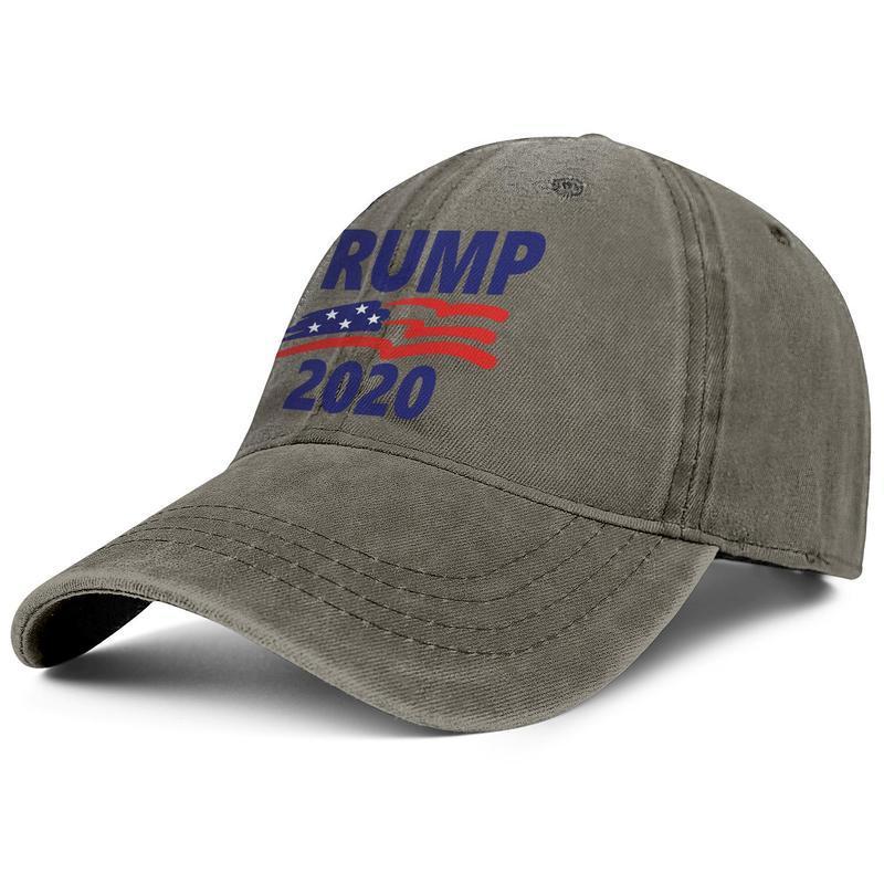 Männer Frauen Vintage Denim Hüte gewaschen einstellbare Trump 2020 amerikanische Flagge Design Ball Hut gedruckt Papa Hüte im Freien