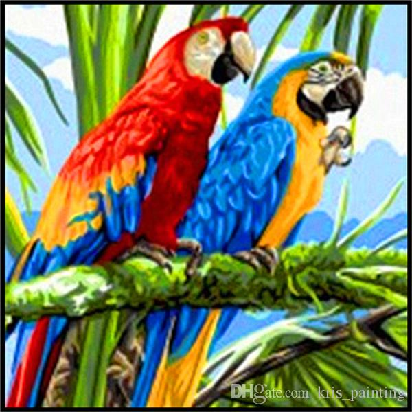 Parrots 5D Full Drill Diamond Painting Embroidery Cross Stitch Kits DIY Crystal