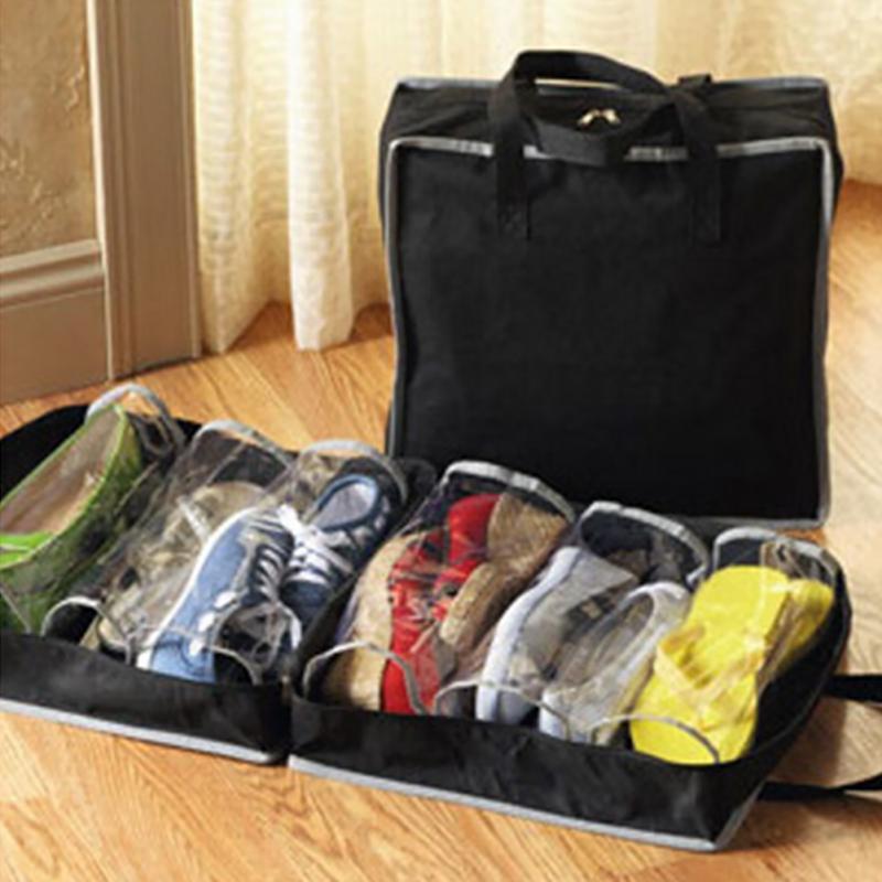 Tela no tejida impermeable del organizador plegable portátil del almacenamiento del bolso del zapato