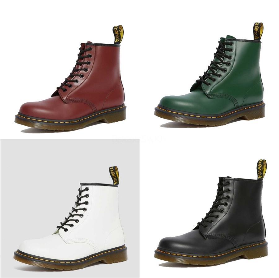 Осень осень-зима сапоги для женщин 2020 Black Leopard Flock Женская Ботильоны Толстый каблук скольжения на обувь Женская обувь Мартин сапоги АДФ-857 # 989